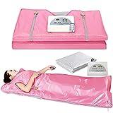 VANELL X-Large Sauna Blanket Infrared, 75' Length Upgraded Heat Far Infrared Blanket Digital Body Sauna Heating HotPink