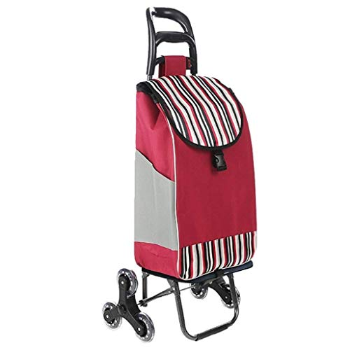 DJY-JY Shopping Cart, Small Pull Cart, Folding Trolley, Portable Trolley, Household Trolley,Size: 35 * 20 * 55CM