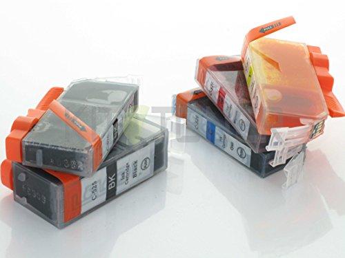 Pack de 5 cartuchos PGI-525 / CLI526 compatibles con Canon – 4 colores