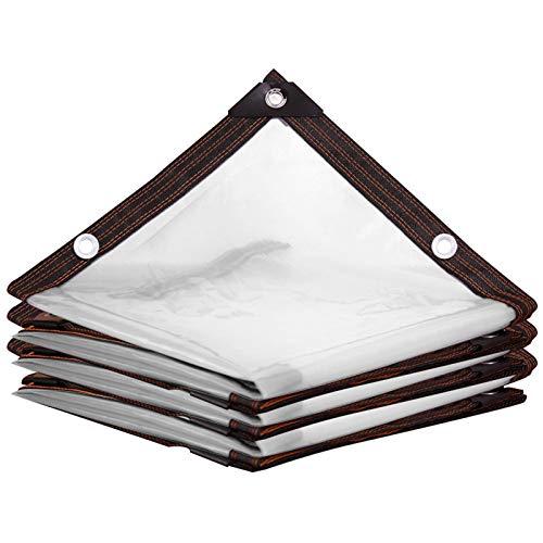 Lona impermeable GXYLTT, lona impermeable a prueba de polvo, lona transparente con ojales resistente al rasgón para muebles al aire libre, 2 m * 4 m * 13 pies