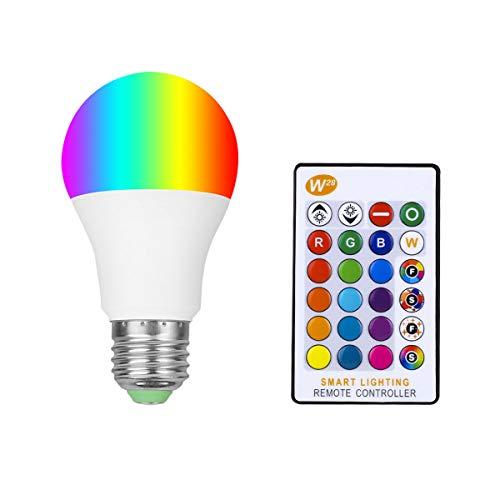 RGB Warmweiß mit Fernbedienung E26 5W LED Glühbirnen Dimmbar Glühbirnen Lampen Stimmungslichter