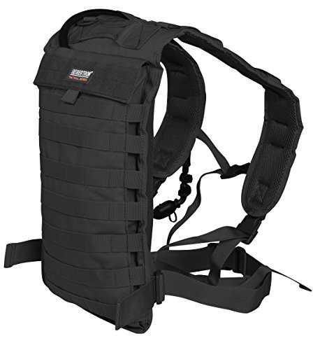 Seibertron Tactical Molle Hydration Carrier Pack Backpack Great for Outdoor Sports of Running Hiking Camping Cycling Motorcycle Fit 2L or 2.5L Water Bladder(not Included) Black