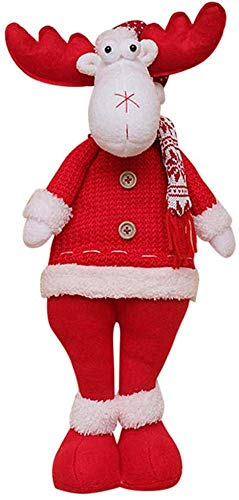 Noël Poupées Arbre De Noël Suspendus Ornements Rétractable Père Noël Bonhomme De Neige Wapiti Jouets Cadeau Pour Enfant,F