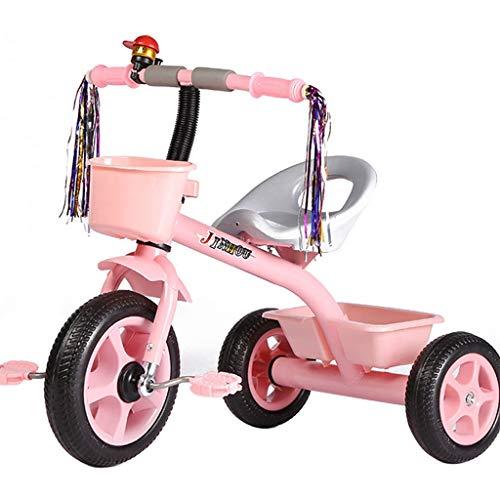 MAGO Kindertagesgeschenk Baby-Dreirad Spielzeug-Auto-Pedal-Blumen-Geschenk-Baby-Roller, Kinder Tricycle Beherbergungs (Color : Blue)