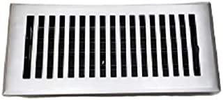 "Cast Aluminum Floor Register for Home Décor – Handcrafted, HVAC Floor Vent 4""X10"", Satin Finish Look – Removable Metal Damper, Durable, Sand Casted VR 102 Register (Satin (Natural Aluminum))"