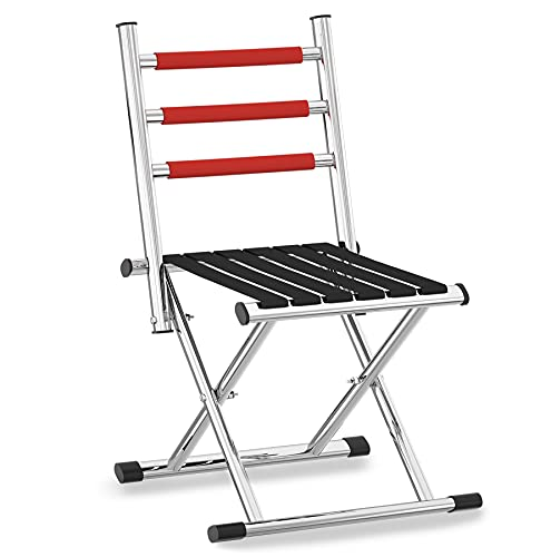 Portable Folding Camping Chair - Foldable Hunting Seat with Backrest, Lightweight Camp Stool with Back Support for Outdoor