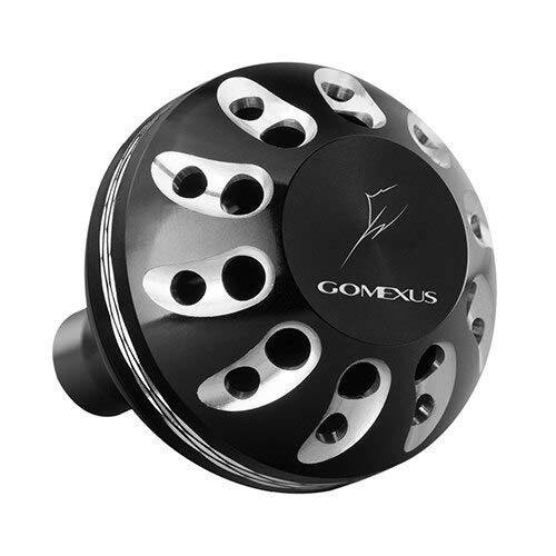 WXIAO Sport all'aperto Gomexus Reel Maniglia Potenza manopola for Shimano Stradic FK C 5000 Saragosa SW Diretto 38 Millimetri (Color : 38mm Black Silver, Use Mode : Direct Install)