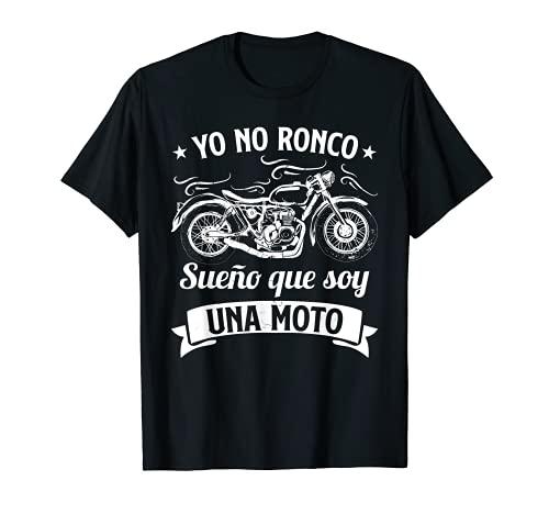 Hombre Divertido Motero Biker Regalos Motoristas Sueño Con Motos Camiseta