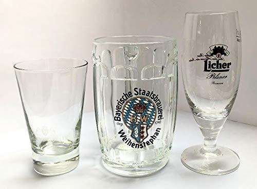 Licher 0,2l Glas (x4) Schloss Quelle Wasserglas (x4) Bayerische Staatsbrauerei Weihenstephan Bierkrug (x6) / Gläser/Trinkgläser/Sektglas/Bierglas/Wassergläser/Glas/Set/Neu