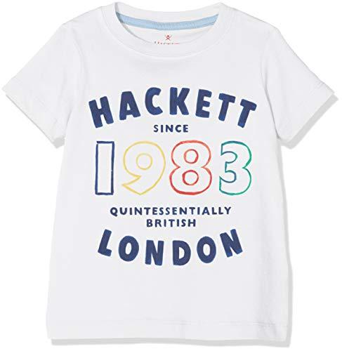 Hackett 1983 tee SS Camiseta, Blanco (White 800), 170 (Talla del Fabricante: 15-16 años) para Niños