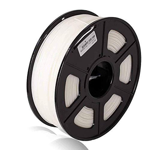 Colorfish 3D Drucker Filament PLA 1,75 mm - Weiß (Maßgenauigkeit +/- 0,02 mm) Umweltfreundliches PLA 3D Filament für 3D Drucker und 3D Stift