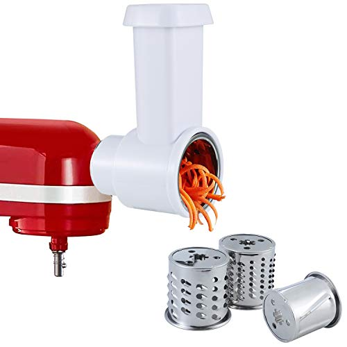 Slicer/Shredder Attachment Compatible with any KitchenAid Stand Mixers,Vegetable Chopper Grater Accessories,Salad Maker by iVict