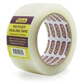 ATack Transparent Window Weather Sealing Tape, 2-Inch x 30 Yards, Clear Window Draft Isolation Sealing Film Tape- No Residue, Surface-Safe, Wood-Safe, Removes Cleanly