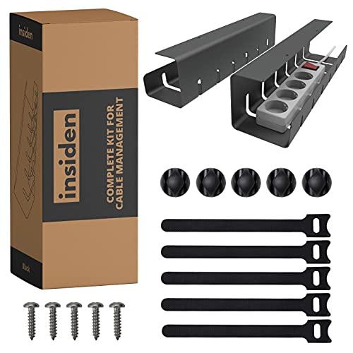INSIDEN – Kit completo para cable de gestión, soportes de cables de...