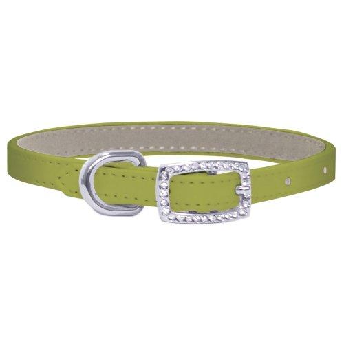 FouFou Dog Yummy Collar, Smallage Green, 14-Inch