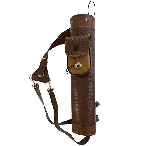 JIALUCONG Arrow Quiver or Rustic Leather Quiver - Handmade Quiver for Arrows and Crossbow Quiver - Bow Quiver and Quiver for Compound Bow - Traditional Arrow Holder