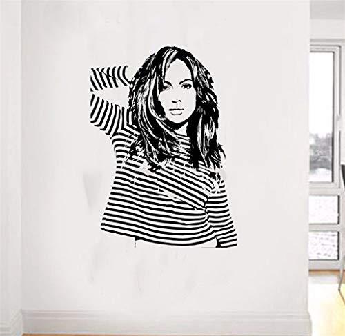 Pegatinas Decorativas Pared Jennifer Lopez American Idol Jlo Singer Actriz Bailarina Calcomanía Para Niñas Dormitorio Sala De Estar etiqueta de la pared