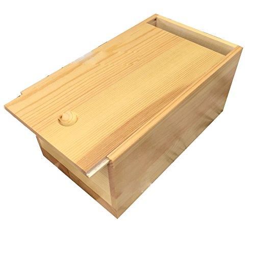 Demarkt Caja de Madera Caja de Regalo para Decorar con Tapa Caja de Regalo bellamente Envuelta joyero 9.3 * 5.6 * 6cm 1PCS