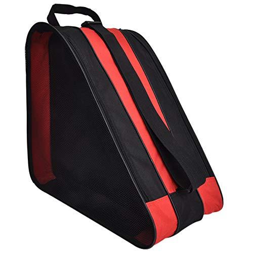 LINVINC Dauerhaft Schlittschuhe Tasche - Multifunktional Skate Bag Tasche Schlittschuhe für Kinder zum Rollschuhen Inlineskates, Rot, 39 * 20 * 38cm