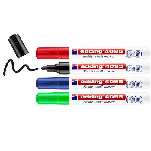 Edding 4095 marcador de tiza juego de 4 - surtido - rotuladores...