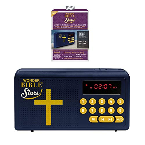 Wonder Bible Stars RSV- The Audio Bible Player That Speaks, Dramatized, with Music, Sound Effects, and Celebrity Believers as The Voices- Revised Standard Version of The New Testament, As Seen on TV