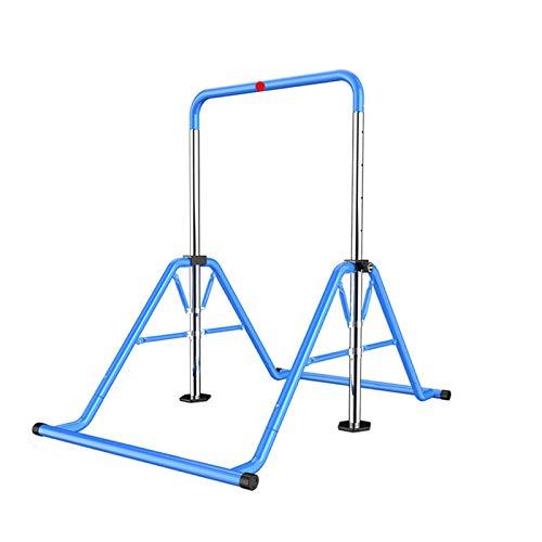 TWW Indoor Faltkinder Horizontale Bar Unterhaltung Klimmzüge Fitnessgeräte Haushaltskinder Einzelne Barren Trainingsmaschine,Blau