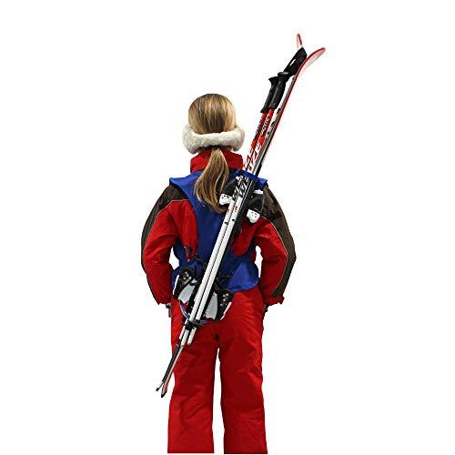 Wantalis - Skiback kid - Ein revolutionäres Produkt, um Ihre Ski freihändig zu tragen - Anpassbare und verstellbare Schultergurte - Kindergröße max. 1m30