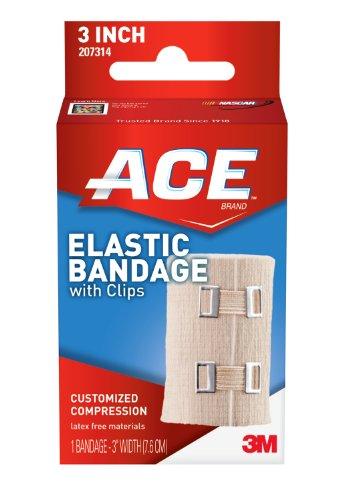Vendaje elástico ACE con clips, 3 pulgadas (paquete de 2)