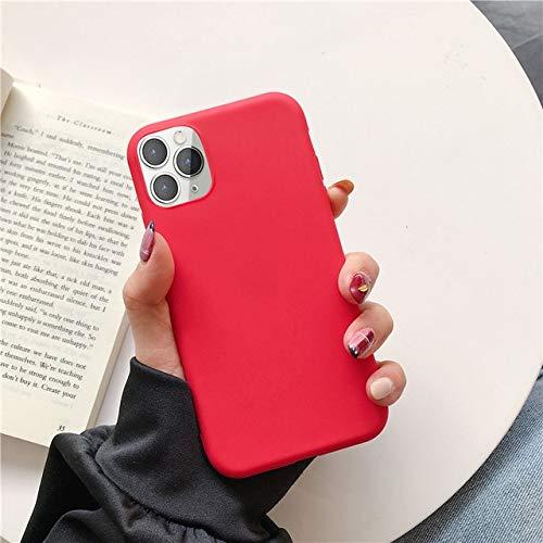 TONGTONG Carcasa de silicona suave para iPhone 11 Pro, Xs, Max Xr X 10, 8, 7, 6, 6S, Plus, 7Plus, 8Plus, 6Plus, 12, moda de color caramelo para parejas.