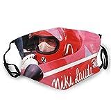 Niki Lauda Face _Madks - Cubierta facial impresa con lazo elástico para las orejas, unisex, pasamontañas transpirables a prueba de polvo, bandanas para oficina, al aire libre, hogar