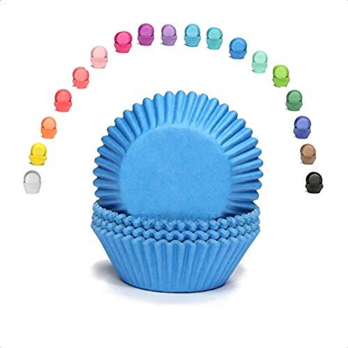 Miss Bakery's House Mini-Muffinförmchen - Blau - 200 Stück - Papierförmchen für Cupcakes, Muffins, Pralinen - Backförmchen - Deutsche Marke