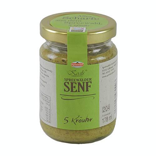 Spreewaldsenf Koal`s Spreewälder Fünf Kräutersenf 158 ml