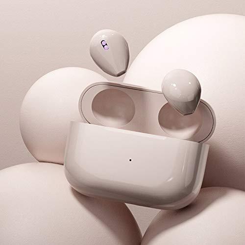 EastWing Mini Auricular Bluetooth Invisible TWS en Auriculares inalámbricos de oído Impermeable Deportes estéreo Auriculares táctiles con Estuche de Carga SkinColor