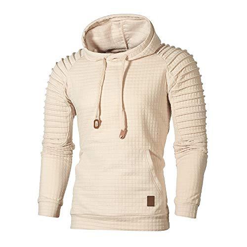Auifor heren herfst lange mouwen Plaid hoodie top thee outwear blouse