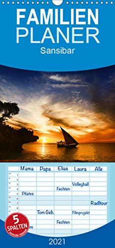 Sansibar - Familienplaner hoch (Wandkalender 2021 , 21 cm x 45 cm, hoch): Impressionen Sansibar (Monatskalender, 14 Seiten ) (CALVENDO Natur)