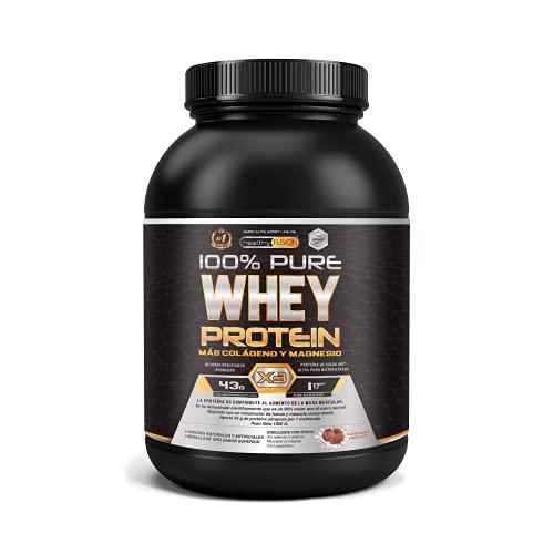 Whey Protein | Proteina whey pura con colágeno + magnesio | Tonifica y aumenta la masa muscular | Protege músculos...