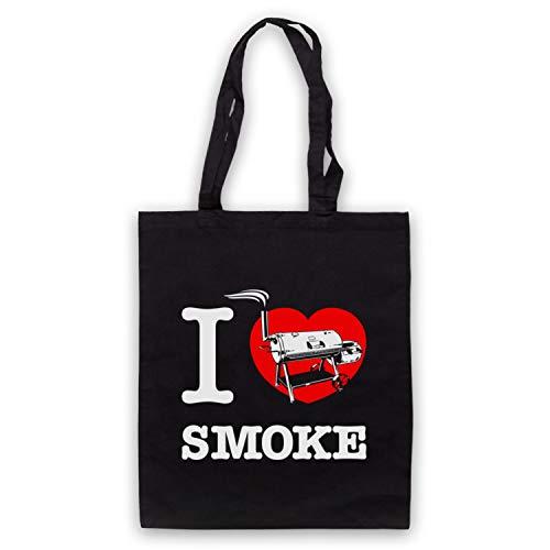 My Icon Art & Clothing I Love Smoke Smoked Meat BBQ Smoker Umhangetaschen, Schwarz