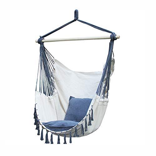 Hangstoel met ophangtouw, draagbaar tuinstoel voor buiten, binnen, veranda, tuin, terras