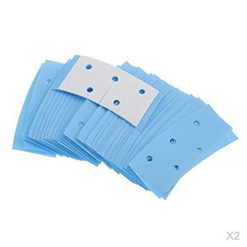 Almencla 72 Einheiten Perücke Double Sided Tape Adhesive Lace Front Support Haarsystem Streifen Haarteil Blau