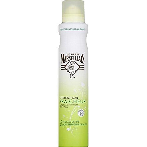 Le Petit Marseillais Déodorant soin feuilles de thé & huile essentielle de sauge - L'aérosol de 200 ml