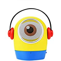 WOHAO Medios Dispositivo de Streaming Apoyo TF Precioso Altavoz Bluetooth inalámbrico Bluetooth de Dibujos Animados portátil al Aire Libre Mini Altavoz (Color : Yellow)