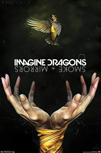 Trends International Imagine Dragons - Smoke Wall Poster, 22.375' x 34', Premium Unframed Version