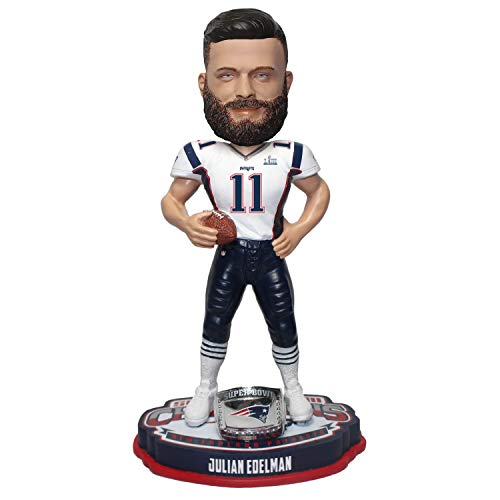 Foco NFL Bobblehead Julian Edelman New England Patriots Superbowl Champion LIII Bobble Head Wackelkopf 20cm