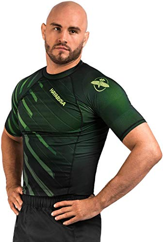Hayabusa Metaru Short Sleeve Jiu Jitsu Rashguard - Green, Large