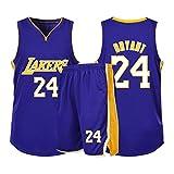 Kobe No. 24 Lakers Jersey Sportswear, Unisex Sin Mangas Camiseta Impresión de la Camiseta Malla de Baloncesto Swingman Jersey, Uniforme de Baloncesto Adulto S
