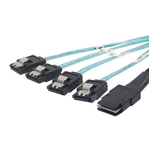 10Gtek® Internes Mini SAS Kabel SFF-8087 zu 4X SATA 1-Meter, Mini SAS 36Pin SFF-8087 to 4X SATA Cable, MEHRWEG