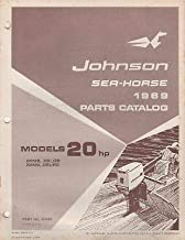 1969 JOHNSON SEA-HORSE OUTBOARD 20 HP PARTS MANUAL P/N 383868 (262)