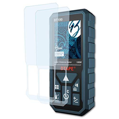 Bruni Schutzfolie kompatibel mit DTAPE DT100 Folie, glasklare Displayschutzfolie (2X)