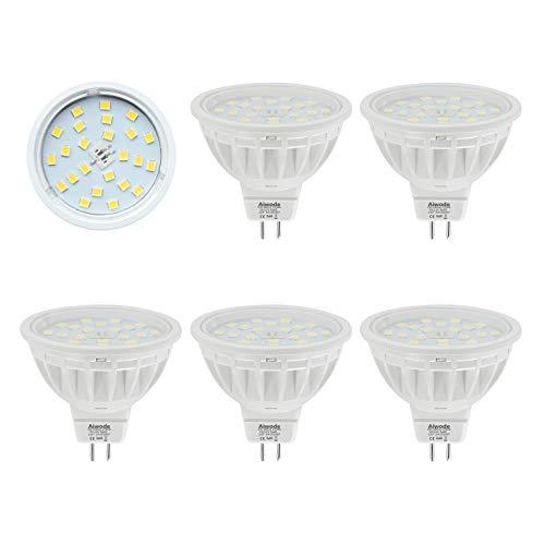 Aiwode MR16 LED Lampe Gu5.3 Scheinwerfer,Warmweiß 2700K,5W Ersetzt 50W Halogenlampe,DC12V 120°Abstrahlwinkel 600LM RA85, 5er Pack.