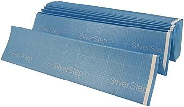 Cal-Flor FU81422 SilverStep Premium Cross-Linked Polyethylene Foam Underlayment and Moisture Barrier for Floating Laminate and Engineered Floors, 100 sf, Blue